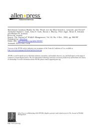 Nutritional Condition Models for Elk - Oregon Department of Fish ...