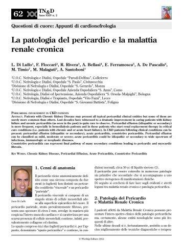 La patologia del pericardio e la malattia renale cronica