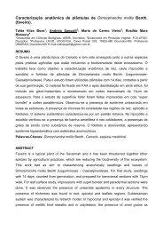 Caracterização anatômica de plântulas de Dimorphandra mollis ...