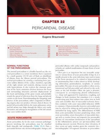 Ch. 22: Pericardial Disease