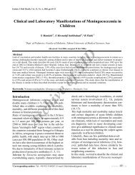 Clinical and Laboratory Manifestations of Meningococcemia in ...