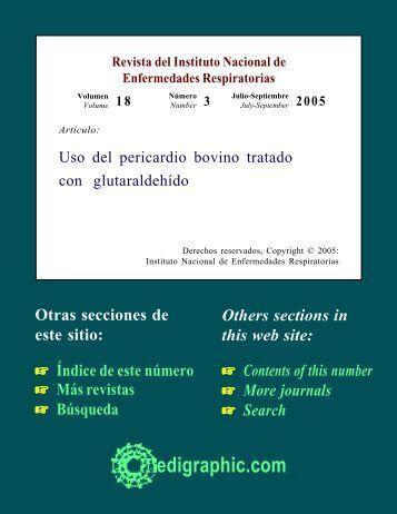 Uso del pericardio bovino tratado con glutaraldehído - edigraphic.com
