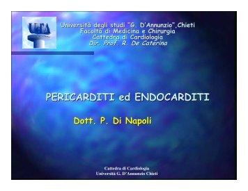 PERICARDITI ed ENDOCARDITI - Università Gabriele d'Annunzio