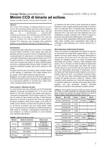 (UAI) N. 3 2007, p. 21-23 - Gruppo Astrofili Catanesi