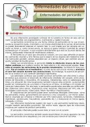 Enfermedades del corazón Pericarditis constrictiva - Vivir con corazón