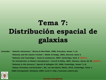Distribución espacial de las galaxias. - GUAIX