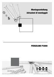 PERGOLINO P3000 Montageanleitung Istruzioni ... - Sonnen-koenig.at