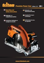 Manual de instrucciones - Triton Tools