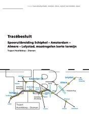 Tracébesluit, traject Hoofddorp-Diemen - ProRail