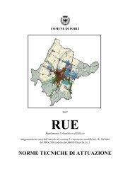 Norme Tecniche di Attuazione del Regolamento ... - Comune di Forlì