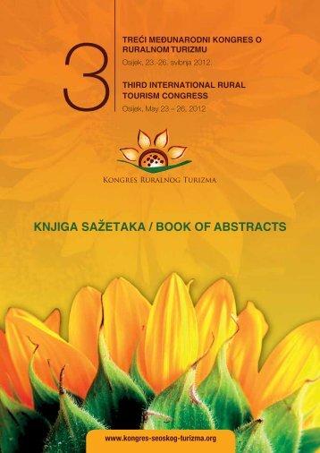 KNjIGA SAžETAKA / BOOK Of ABSTRACTS - Treći međunarodni ...