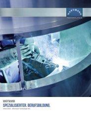 Berufsbild Anlagen- und Apparatebauer - Wartmann Technologie AG