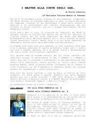 I MASTER ALLA CORTE DEGLI ZAR… - Associazione Italiana ...
