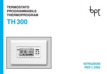 Termostato bpt th 124 for Bpt thermoprogram istruzioni