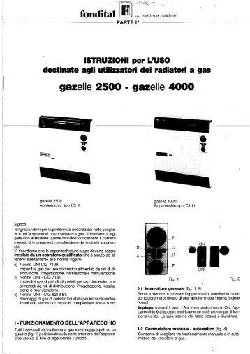 Radiatori a gas Fondital Gazelle 2500 - 4000 - Certened