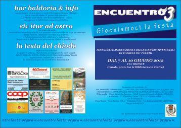 """CASSINA DE PECCHI (MI) - """"Encuentro 3 ... - INCLUDENDO"""