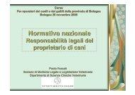 Normativa nazionale - Cani gatti e noi - Provincia di Bologna