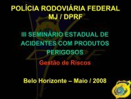 POLÍCIA RODOVIÁRIA FEDERAL MJ / DPRF - Secretaria de Estado ...