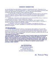 COMUNITA' BENEDETTINA - Home Page - Sac. Ferdinando Tiburzi ...