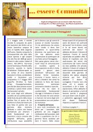 essere Comunità - maggio - Parrocchia Santa Maria De Francis