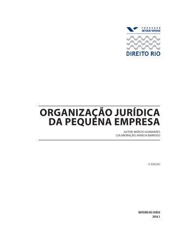Organização Jurídica da Pequena Empresa - Vol I