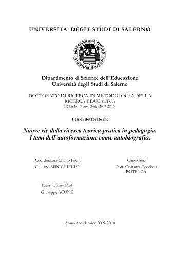 Nuove vie della ricerca teorico-pratica in pedagogia. I temi dell ...