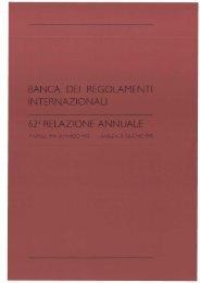 62a Relazione annuale della BRI - 1992 - Bank for International ...