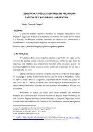 estudo de caso brasil - argentina - Red CIDIR