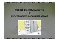 Noções de Arquivamento e Procedimentos Adiministrativos - ALUB
