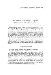 Le sermon 150 de saint Augustin