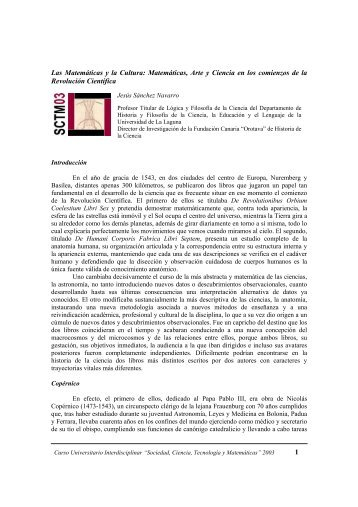 Matemáticas, Arte y Ciencia en los comienzos de la Revolución ...