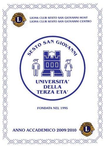 anno accademico 2009/2010 - Università della Terza Età di Sesto ...