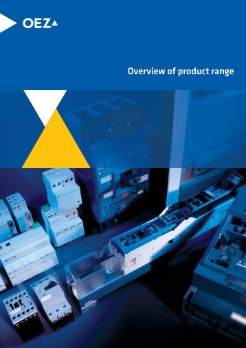 Overview of product range