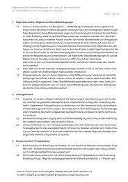 Allgemeine Geschäftsbedingungen von LinieLux - Kommunikation ...
