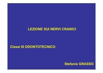 LEZIONE SUI NERVI CRANICI Classi III ODONTOTECNICO ...