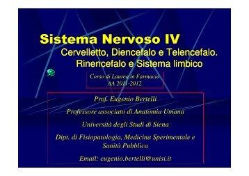 Sistema Nervoso IV - Farmacia - Università degli Studi di Siena