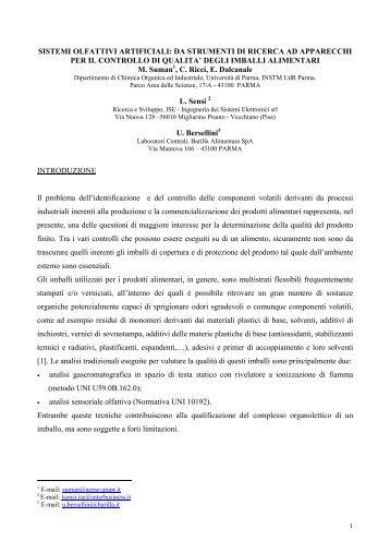 SISTEMI OLFATTIVI ARTIFICIALI: DA STRUMENTI DI ... - SOATEC