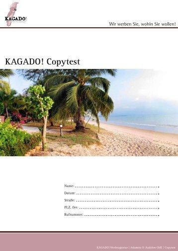 KAGADO! Copytest