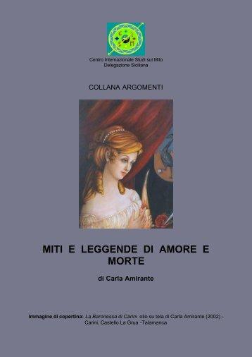 miti e leggende di amore e morte - Centro Internazionale Studi sul Mito