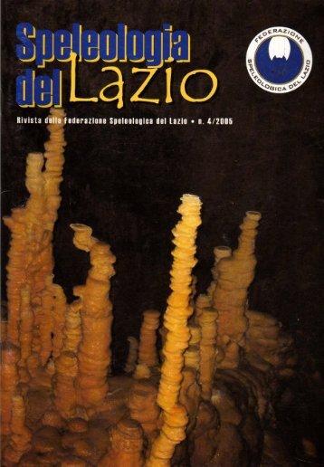 Speleologo - Federazione Speleologica Lazio