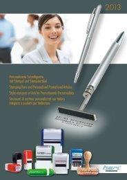 Personalisierte Schreibgeräte mit Stempel und ... - Plastolan
