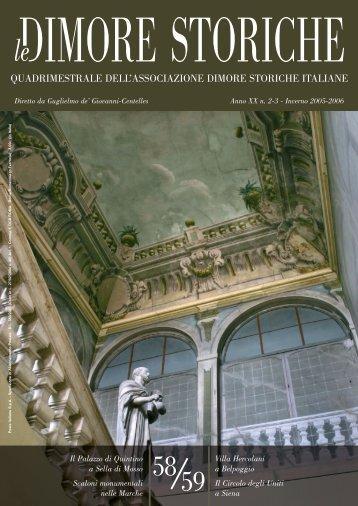 N. 58/59 - Anno 2006-2006 - Associazione Dimore Storiche Italiane