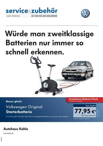 Würde man zweitklassige Batterien nur immer so ... - Autohaus Kahle