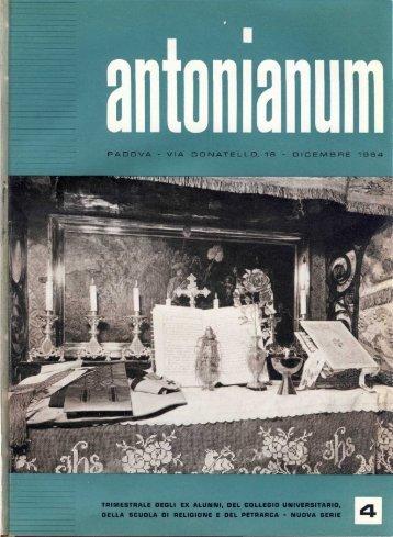 Dicembre '64 - Ex-Alunni dell'Antonianum