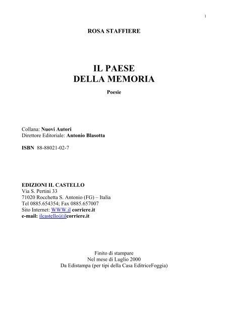 Poesie Di Natalecom.Il Paese Della Memoria Comune Di Anzano Di Puglia