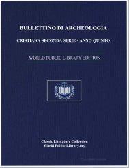 bullettino di archeologia cristiana seconda serie - anno quinto