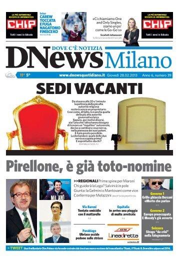 Pirellone, è già toto-nomine - DNews