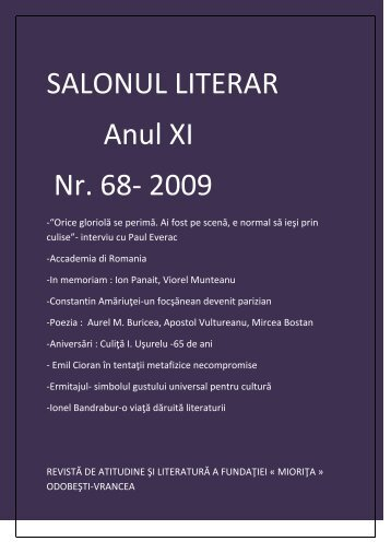 salon literar nr.68.pdf - culitaioanusurelu.ro