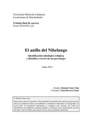 El anillo del Nibelungo - Universitat Oberta de Catalunya