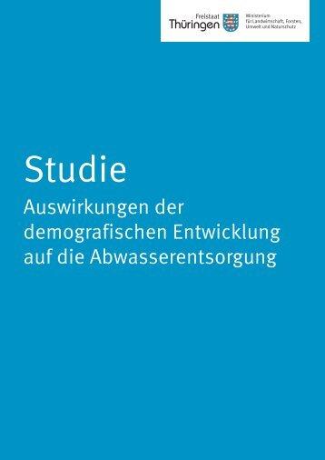 """Studie """"Auswirkungen der demografischen Entwicklung auf die ..."""